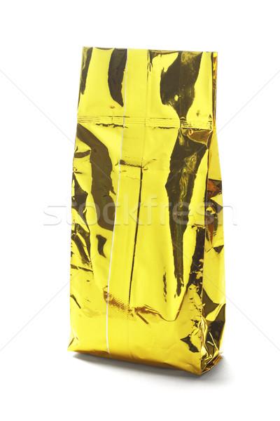 Golden Yellow Aluminum Pouch Stock photo © dezign56