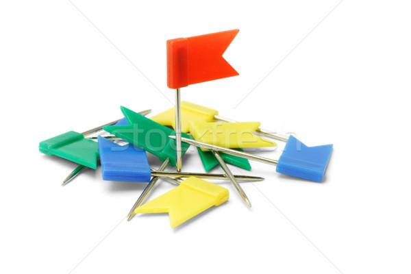 Multicolor plastic flag pins Stock photo © dezign56