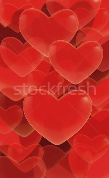 красный сердцах любви графических романтика объект Сток-фото © dezign56
