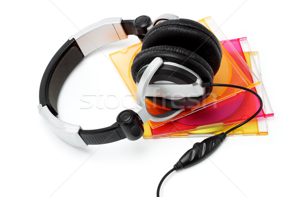 Stereo headphone and CD's Stock photo © dezign56