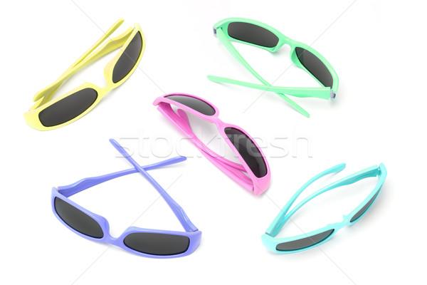 красочный игрушку Солнцезащитные очки детей женщины пластиковых Сток-фото © dezign56