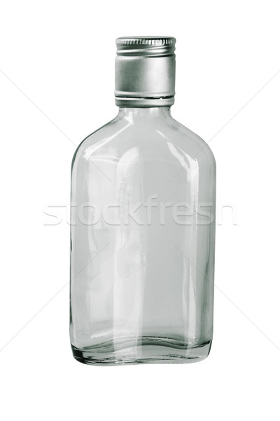 Vide whiskey bouteille blanche boire alcool Photo stock © dezign56