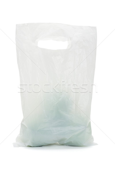 White opaque plastic bag with green apples Stock photo © dezign56