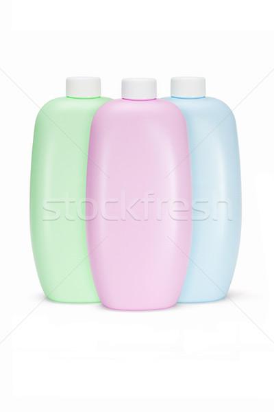 Stock fotó: Műanyag · üvegek · test · törődés · termékek · három