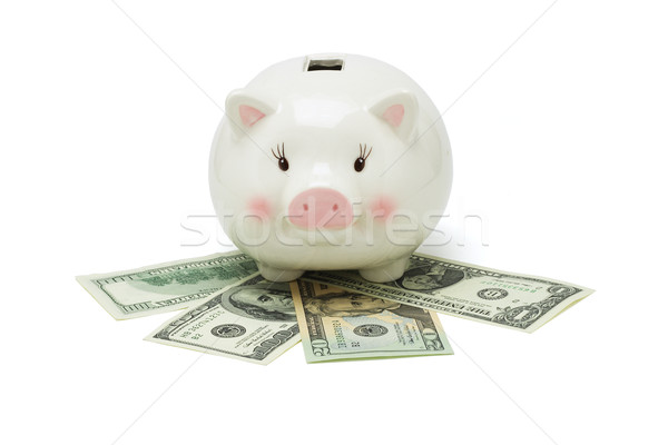 Piggy bank and US dollars Stock photo © dezign56