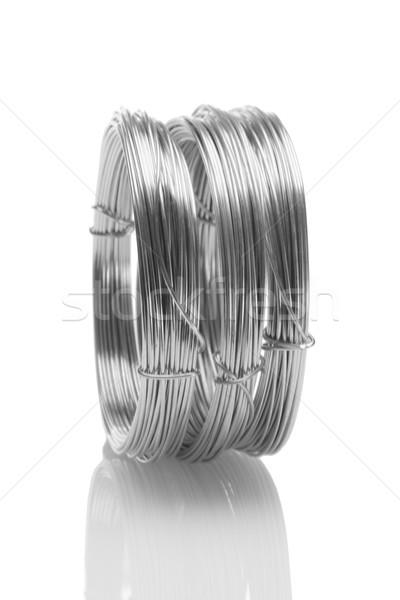 гальванизированный проводов Постоянный белый промышленных цвета Сток-фото © dezign56