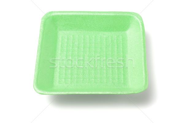 Green Styrofoam Tray Stock photo © dezign56