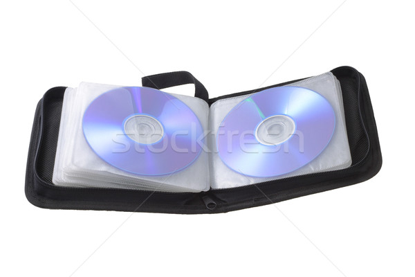 Black compact disk storage bag Stock photo © dezign56