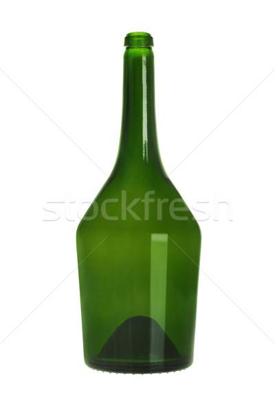 緑 ガラス ボトル 白 カラー 孤立した ストックフォト © dezign56