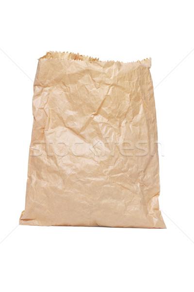 Papírzacskó áll fehér textúra táska szín Stock fotó © dezign56