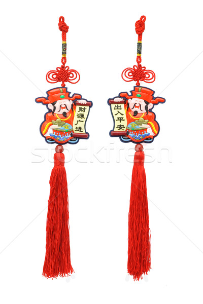 Chinese new year God of Prosperity ornaments Stock photo © dezign56