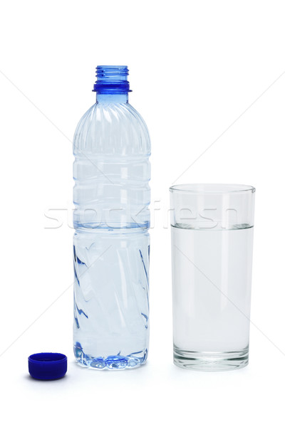 Mineral water in a glass and bottle Stock photo © dezign56