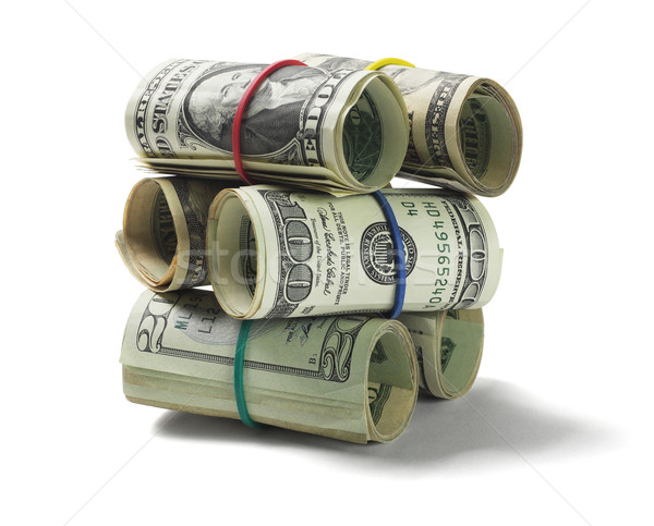 Stack of Rolled Up US Dollar Bills Stock photo © dezign56