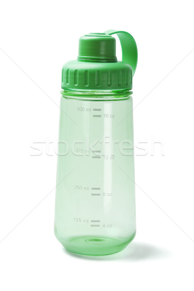 Groene plastic veldfles lege witte water Stockfoto © dezign56