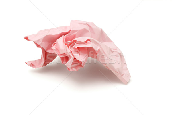 Crumpled pink colored paper Stock photo © dezign56