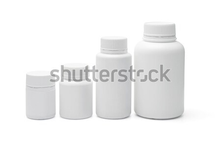 Сток-фото: пластиковых · четыре · медицина · белый · медицинской · группа
