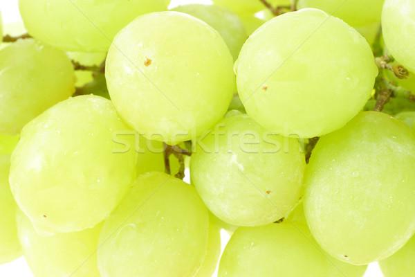 Yeşil üzüm arka plan üzüm şube Stok fotoğraf © dezign56