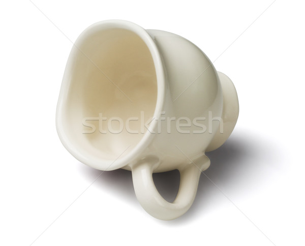 Porcelán teáscsésze üres kávé tea antik Stock fotó © dezign56