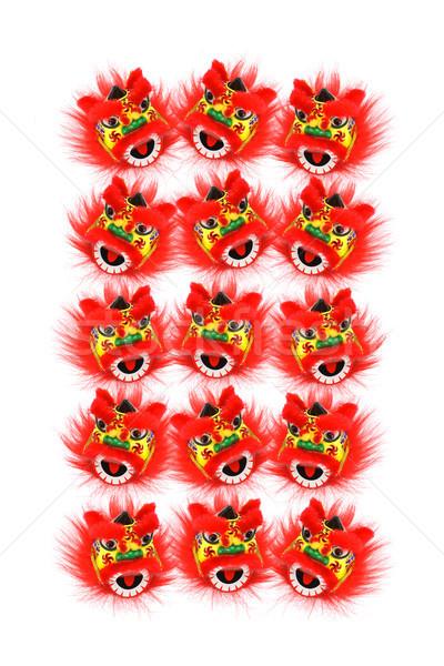 Ano novo chinês leão coleção dançar grupo papel de parede Foto stock © dezign56