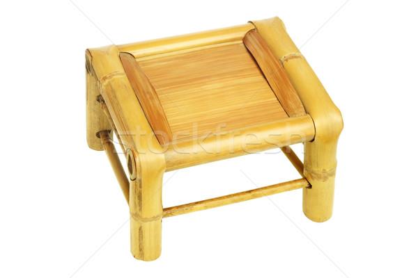 Bambù sgabello view cinese bianco sedia Foto d'archivio © dezign56