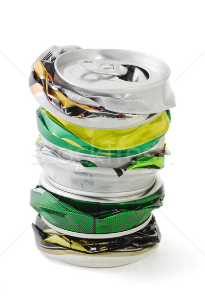 Crushed aluminum cans  Stock photo © dezign56
