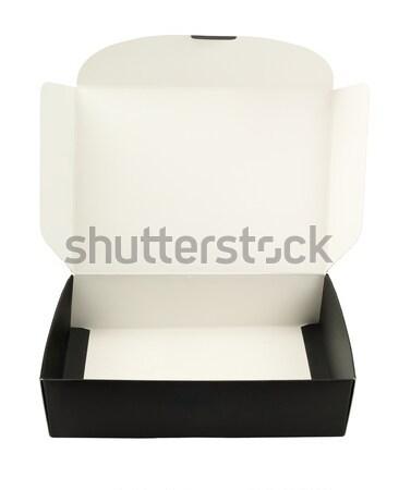 Lege papier vak banketbakkerij witte zwarte Stockfoto © dezign56