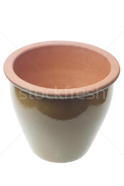 Сток-фото: пусто · цветочный · горшок · белый · саду · банка · Керамика