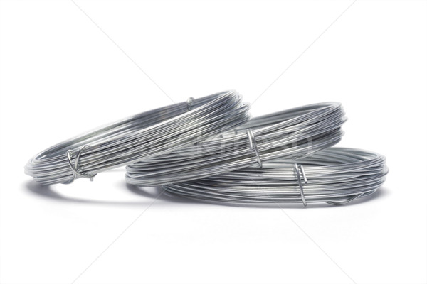 Coils of galvanized wires Stock photo © dezign56