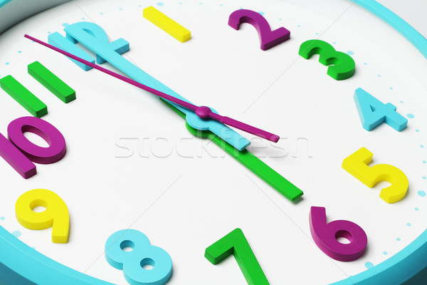 Close up of Colorful Clock Face Stock photo © dezign56