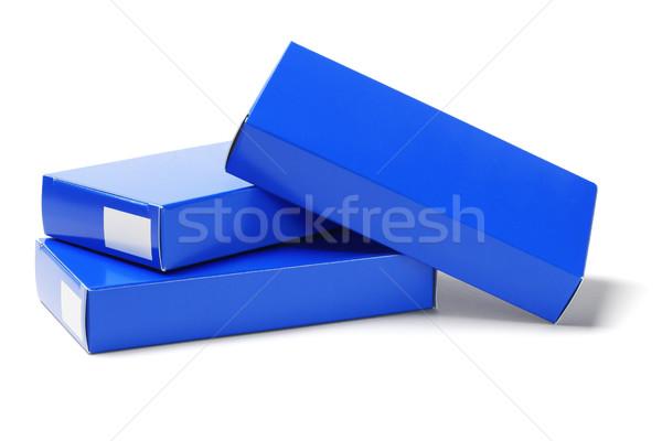 медицина картона коробки белый бумаги синий Сток-фото © dezign56