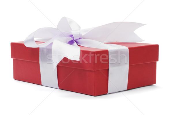 赤 ギフトボックス 弓 リボン 白 ボックス ストックフォト © dezign56