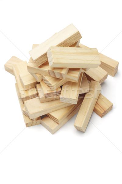 Pile of wooden blocks Stock photo © dezign56