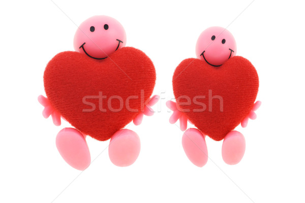 Smilies with big open hearts Stock photo © dezign56