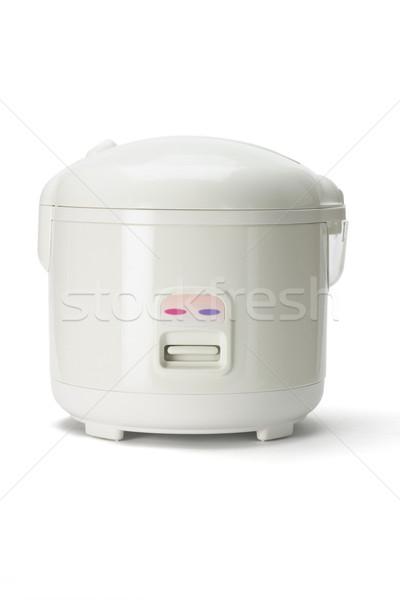Elektrik pirinç yalıtılmış beyaz pişirmek elektronik Stok fotoğraf © dezign56