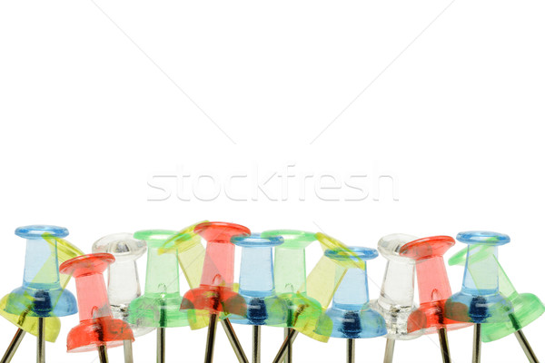 Stock photo: Push pins border