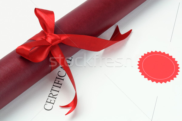 Graduação rolar recipiente certidão cópia espaço estrela Foto stock © dezign56