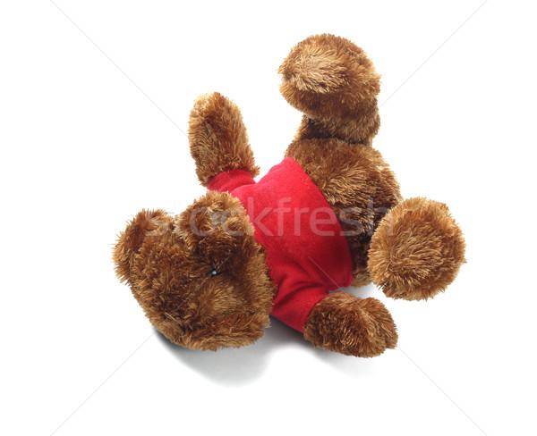 Plüssmaci puha játék gyermek gyerek ajándék Stock fotó © dezign56