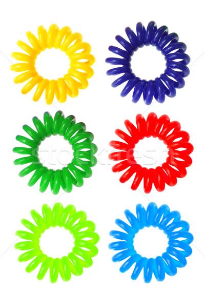 Renkli spiral elastik saç güzellik bant Stok fotoğraf © dezign56
