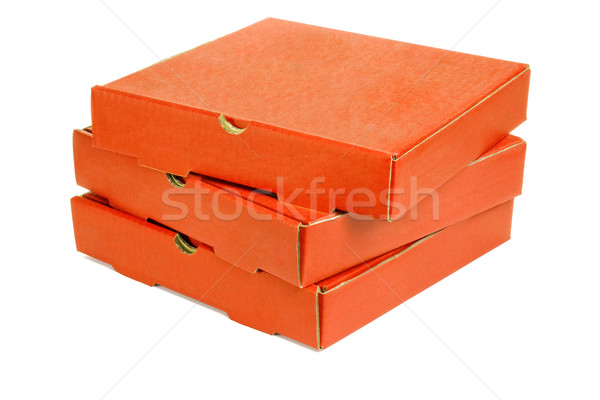 Stack of three pizza takeaway boxes Stock photo © dezign56