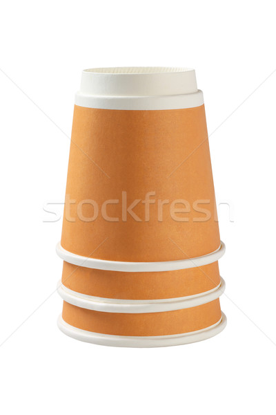 Inverted Coffee Cups Stock photo © dezign56