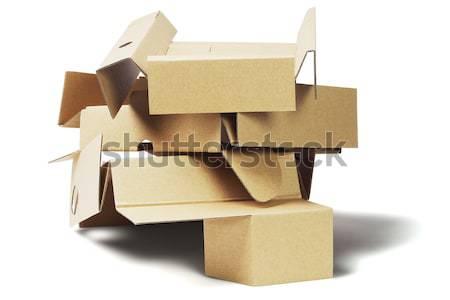 Csomag karton újrahasznosítás fehér papír újrahasznosít Stock fotó © dezign56
