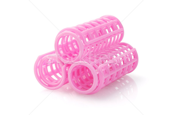 Pink Hair Curlers Stock photo © dezign56