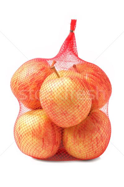 Apples in Plastic Mesh Sack Stock photo © dezign56
