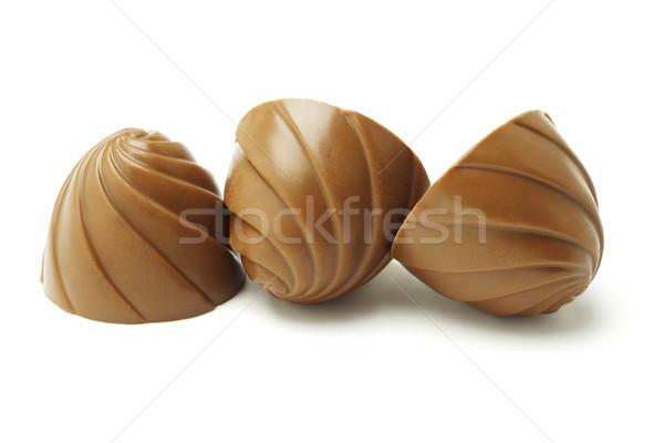 ストックフォト: 3 · チョコレート · 白 · キャンディ