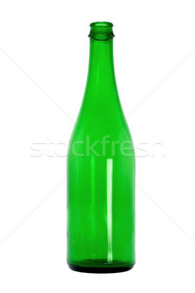 Empty green glass bottle Stock photo © dezign56
