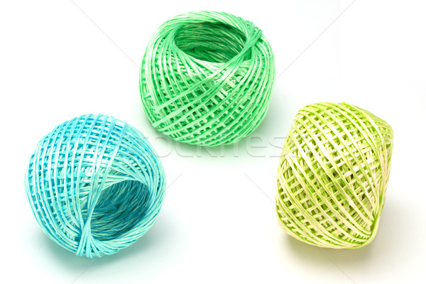 Three balls of nylon string Stock photo © dezign56