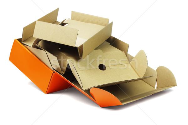 Csomag doboz csomagol újrahasznosít konténer karton Stock fotó © dezign56