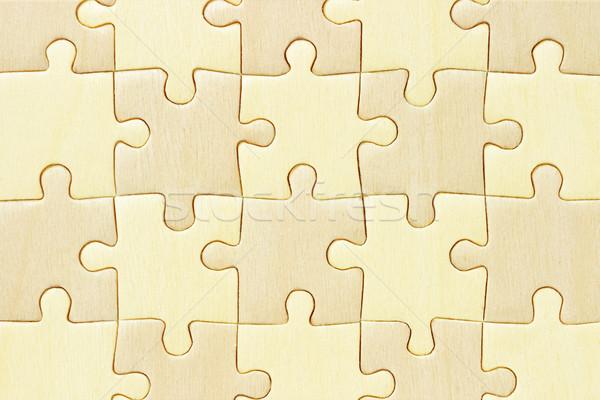 Kockás fából készült kirakós játék közelkép kép minta Stock fotó © dezign56