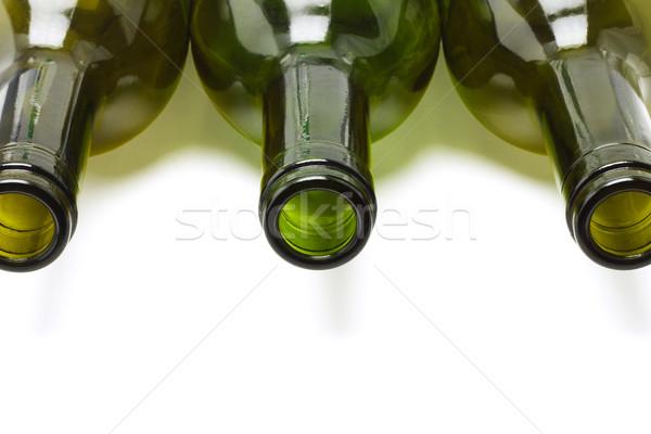 Közelkép üres bor üvegek üveg szín Stock fotó © dezign56
