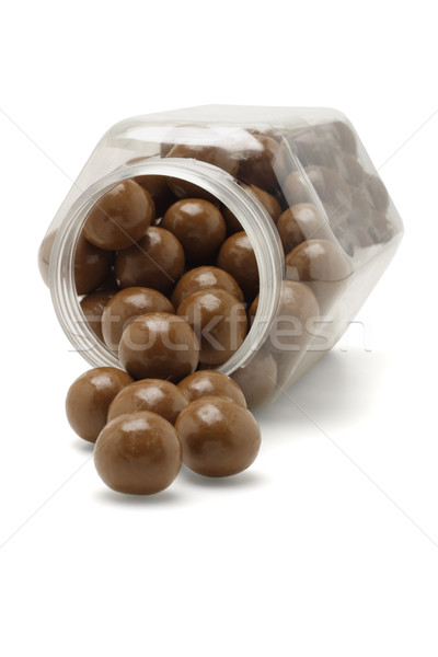 Chocolate balls from fallen container Stock photo © dezign56